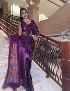 Elegant Saree, Bridal Mehndi, Couture, Formal Dresses, Purple, Design, Style, Fashion, Long Dress Formal
