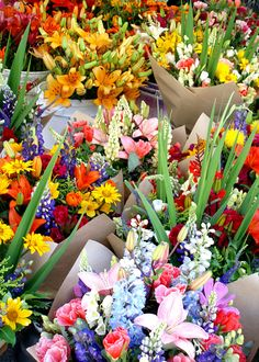 Farmers Market Flowers by Nirvan Hope - Puget Sound Region of Washington State.