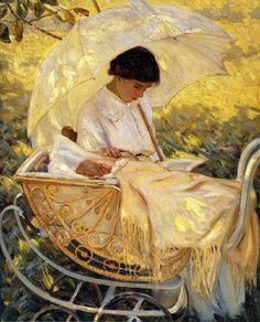 Young Mother in the Garden. Mary Cassatt