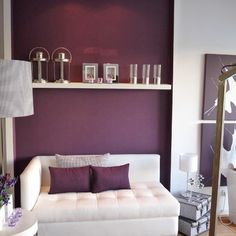 Plum Accent Wall Contemporary Living Room By Angela Varela Cunha