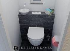 (De Eerste Kamer) Ruimtebesparend fonteintje in dit kleine toilet.