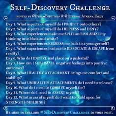 Journal Writing Prompts, Challenge, Self Care Activities, Psychology Facts, Behavioral Psychology, Spiritual Psychology, Personality Psychology, Self Improvement Tips, Self Discovery