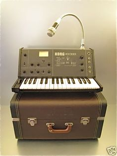 Korg Vocoder Electronic Music Instruments, Musical Instruments, Music Like, Music Stuff, Vintage Synth, Studio Gear, Key Photo, Drum Machine, Acoustic