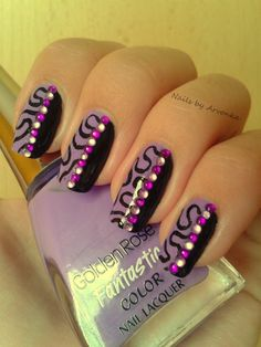 Purple Abstract Nail Art by Veronika S.