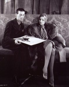 Adrian and Garbo during the the filming of Inspiration, 1931