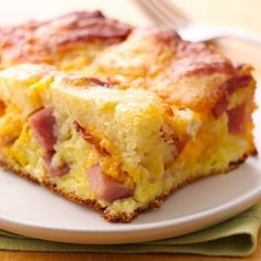 """Need a crowd-pleasing brunch that also works as a breakfast-for-dinner option? This ham-and-bacon casserole is cheesy, flaky and savory. Betty member JGI suggests eating any leftovers cold as an on-the-run breakfast. """"Definitely a family favorite!"""""""