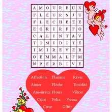 Mots Fleches De La Saint Valentin N 1 Saint Valentin Idee Saint Valentin Activites Saint Valentin