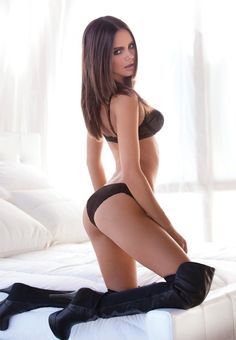 sexy boots in bed !