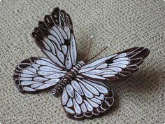 Поделка изделие Квиллинг Бабочка - 3 Мини - МК Бумажные полосы фото 1