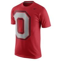 Nike College Tri-Blend T-Shirt - Men's - Ohio State Buckeyes - Red / Grey