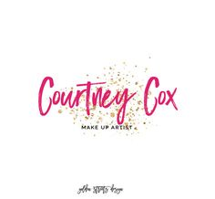 Make-Up Artist Logo - Gold Glitter Logo , Perfect For Your Small Business!