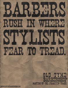 Mad Men Barbershop, truth