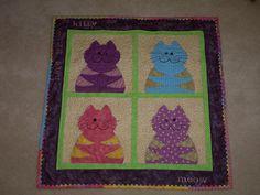 cute cat quilt