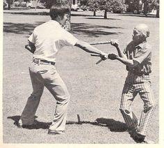 Sifu Dan Inosanto training with Juanito (Johnny) Lacoste in Stockton