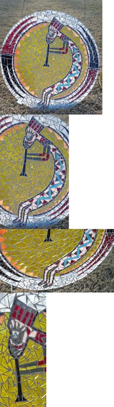 Glass and Mosaic Tiles 160646: Kokapelli Handcut Stained Glass Mosaic Southwest Art -> BUY IT NOW ONLY: $274.99 on eBay!