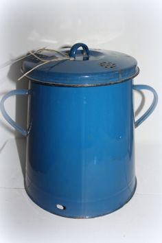 Reuzelpot blauw