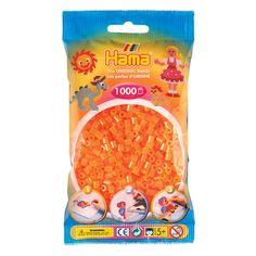 Hama Strijkkralen - Oranje Neon (038), 1000st.  Afmeting:23 x 15 x 9 cm - Hama Strijkkralen - Oranje Neon (038), 1000st.