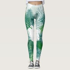 Beautiful Green Tropical Nature Leggings