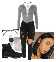 """Outfit idea #62"" by tomayabarnes12 ❤ liked on Polyvore featuring WearAll, Ray-Ban, Casio, Timberland, Anti Social Social Club and Humble Chic"