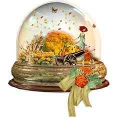 """Fall Water Globe"" by emjule on Polyvore"