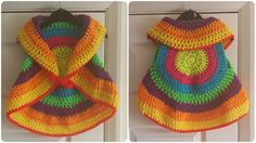 Today at pretty-ideas.com we have found for you great shrug and if you want we are ready to teach you how to crochet. This colorful circle waistcoat is also warm and you can wear in cold weather when you want to go for a walk of for shopping . This shawl is very comfortable and you can use it at home and feel cozy. Of course if you don't like many colors you can crochet in few colors or just in one color. The pattern we have searched you will learn everything step by step and if you know…