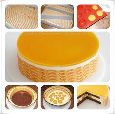 step by step- Glazed top cake Cake Roll Recipes, Cheesecake Recipes, Super Torte, Individual Cakes, Food Crush, Cupcakes, Weird Food, Mousse Cake, Cake Tutorial