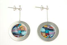 Sterling silver circulado blue earrings. $55.00, via Etsy.
