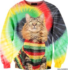 rasta cat sweater. i already have enough cat stuff & i hate cats lol. but this is adorable (: