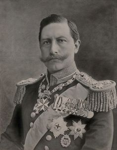 Kaiser Wilhelm II of Prussia. 1899, in British Naval Uniform and Garter Star and Riband