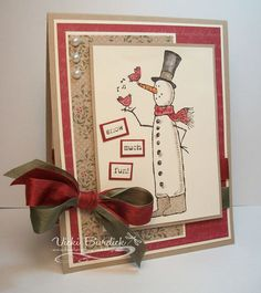 Snow Much Fun Holiday Cards, Christmas Cards, Christmas Posters, Christmas Decor, Christmas Fair Ideas, Snow Much Fun, Snowman Cards, Stamping Up Cards, Winter Cards