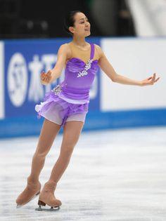 Mao Asada- Purple Figure Skating / Ice Skating dress inspiration for Sk8 Gr8 Designs.