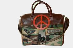 USA, USA, USA!!!! This Handmade Camouflage Military - US Air Force Handbag by HAVENSTREET on Etsy.  For more military themed bags and jewelry go to www.havenstreetstudio.com Make's a PERFECT gift for the military wife or mom :-D