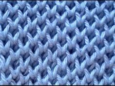 Diy Crafts - Discover thousands of images about Cómo Tejer Punto Panal-Honeycomb Brioche Stitch 2 Agujas Baby Knitting Patterns, Knitting Stiches, Knitting Videos, Crochet Videos, Easy Knitting, Loom Knitting, Crochet Stitches, Stitch Patterns, Crochet Patterns