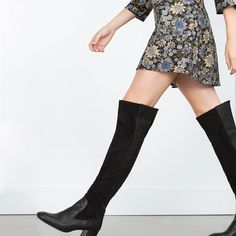 COMBINED LEATHER BOOTS