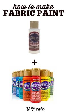 Did you know you can turn acrylic paint into fabric paint? Maybe youd like to stencil onto a...