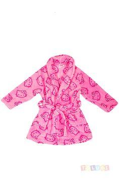 Robe de chambre Hello Kitty rose   https://www.facebook.com/Toluki #Toluki #enfant #mode