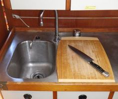 Easy Boat Improvements 2 - Galley Improvements: Over-Sink Cutting Board