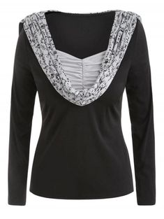 08ffc7dd1c5 woman s variety clothing · Plus Size Skulls Print Ruched Pullover Hoodie -  BLACK 4X