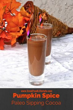 Pumpkin Spice Paleo Sipping Cocoa is the perfect healthy treat for parties or to help you unwind!  I lost 8 sizes and reversed Type 2 Diabetes through diet and lifestyle.  For more healthy recipes follow me on Pinterest and subscribe to my blog at this link.