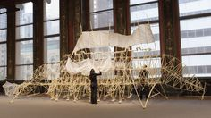 Theo Jansen. The fourth floor gallery of the Chicago Cultural Center has been turned into a zoo, but you won't find any living, breathing animals in captivity. Instead, the cavernous...