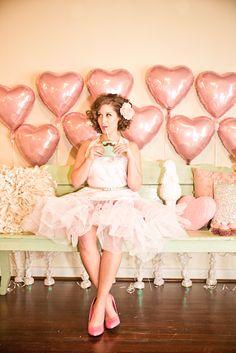 Inspiration: Love/Hearts Themed Bridal Shower
