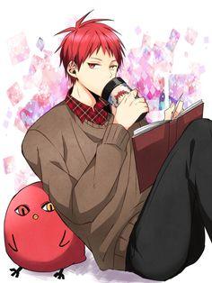 Tags: Anime, Pixiv Id 2785197, Kuroko no Basuke, Akashi Seijuurou, Sweater, Drinks, 3:4 Ratio