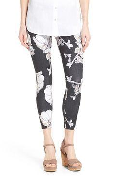 Hue 'Super Smooth' Floral Print Skimmer Leggings