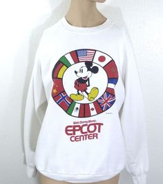 Vintage 1982 Disney Mickey Mouse Epcot Center Sweatshirt  XL 50/50