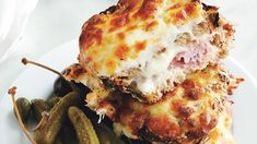 Croque-Monsieur Recipe  I must EAT this food before I die lol! Croque-Monsieur Recipe | Bon Appetit Quiche Lorraine Thermomix, Diner Burger, Slow Cooked Ham, Grilled Ham And Cheese, Sammy, Baked Ham, Cata, Wrap Sandwiches, Quesadillas