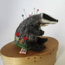 needlefelted badger - Google Search