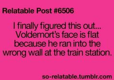 Voldemort's face