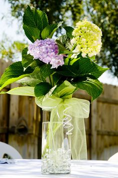 Liliac centerpiece idea