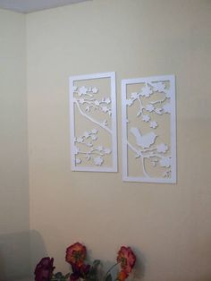 Sweet gift for sweet people! Check out this item in my Etsy shop https://www.etsy.com/il-en/listing/516679149/laser-cut-wood-wall-decor-birds-nature