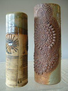 Bernard Rooke Studio Art Pottery Cylindrical Vase in Pottery, Porcelain & Glass, Pottery, Studio | eBay